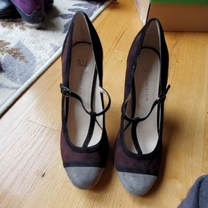 Anne Klein tri-color heels